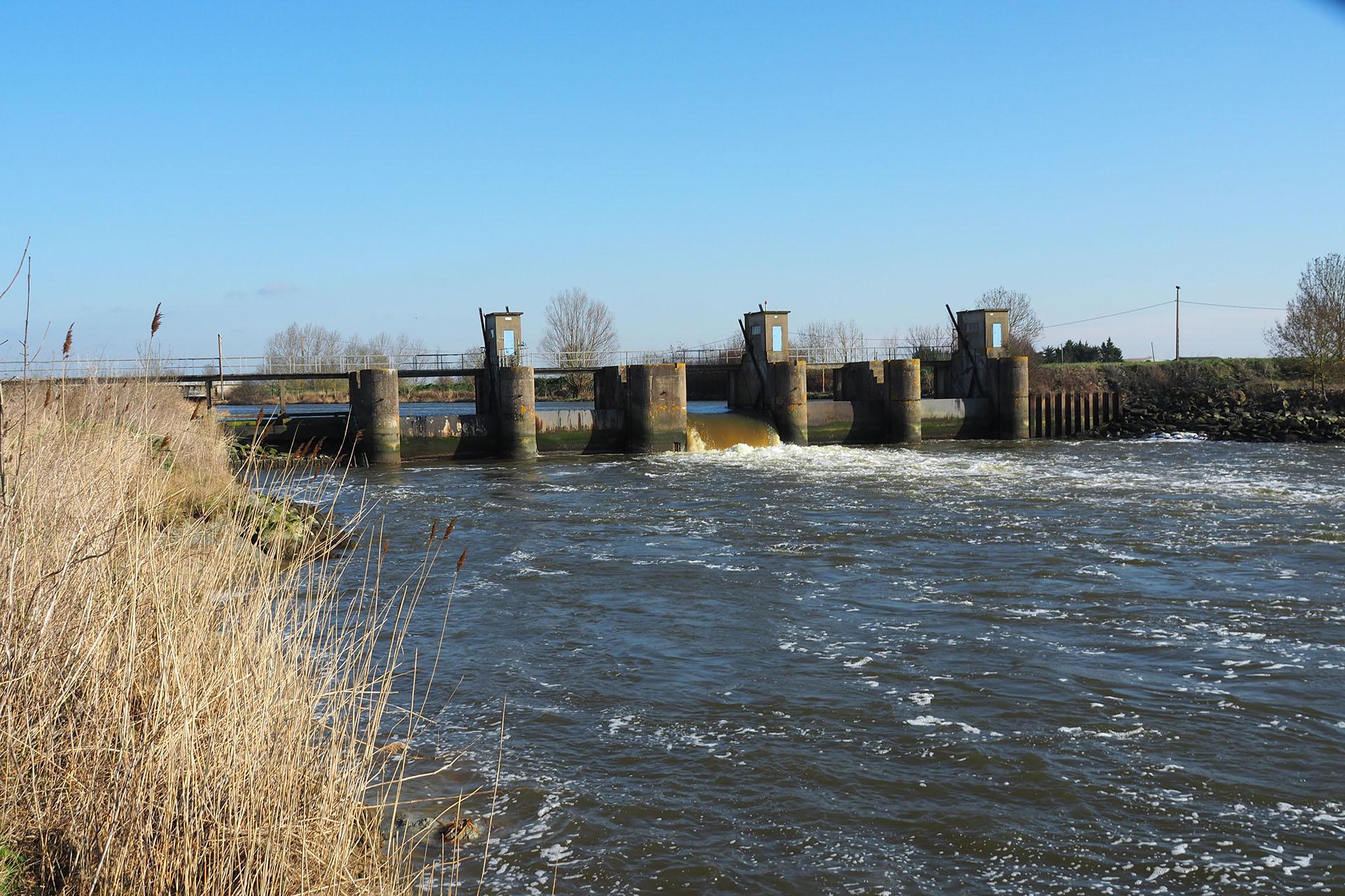 Barrage de Moricq à Grues