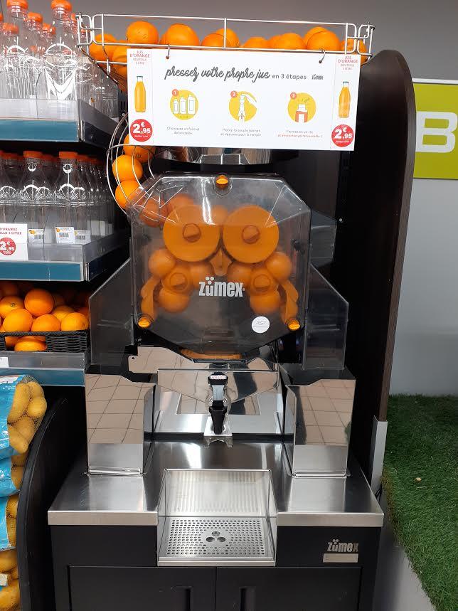Machine à jus d'orange frais