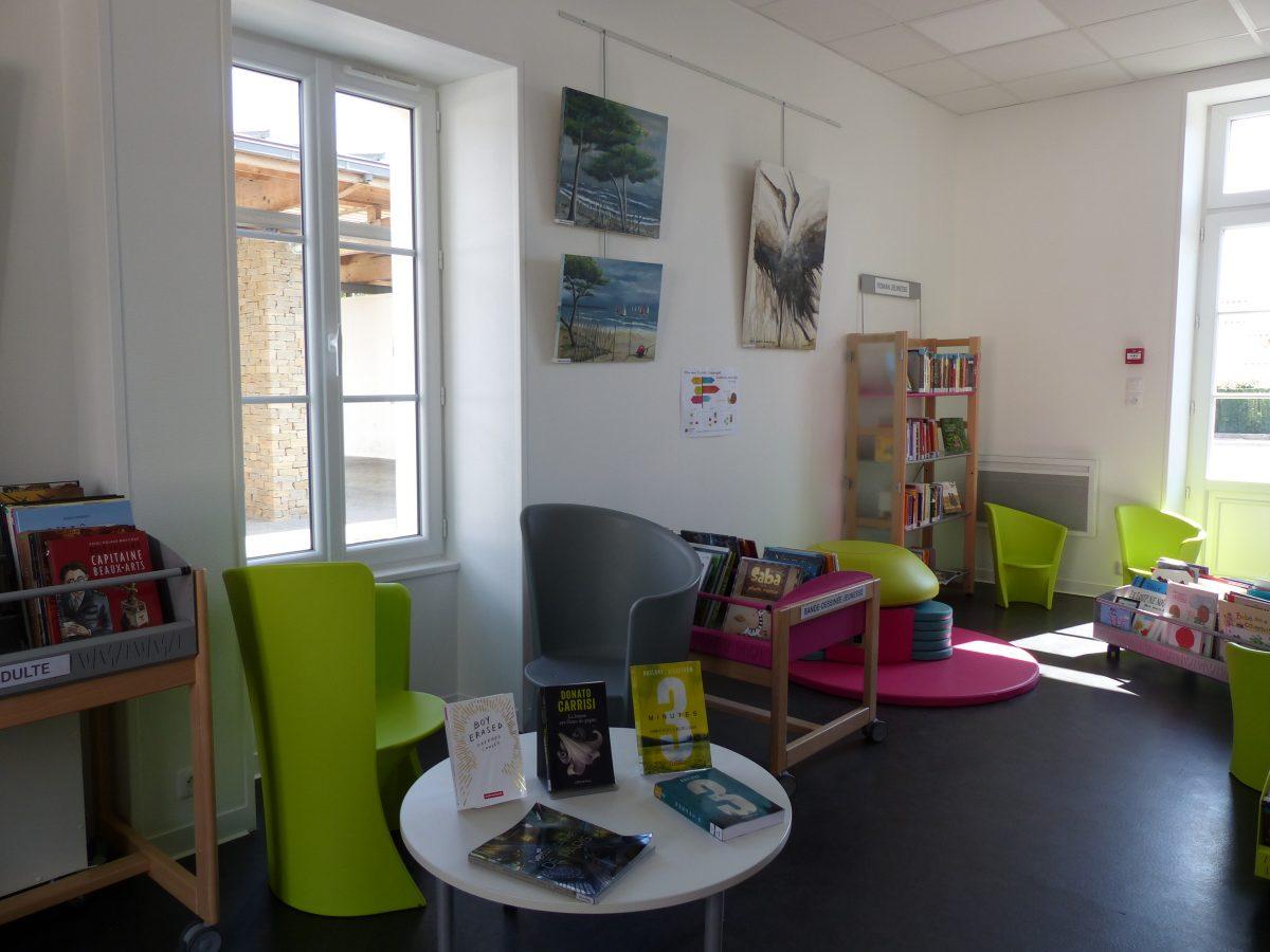 Médiathèque de Grues : espaces au public
