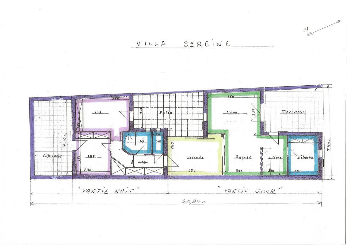 Plan villa après scan