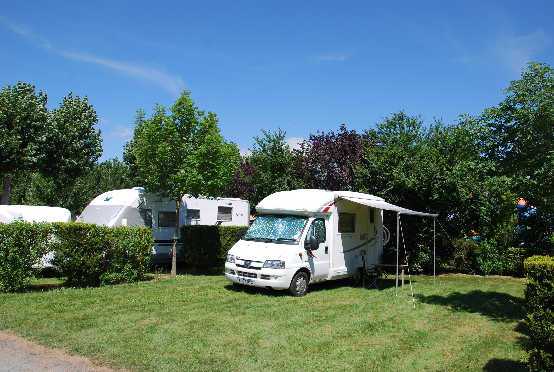 emplacements de campings délimités
