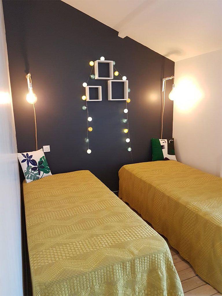 Chambre enfants avec 3 lits simples, 1er étage